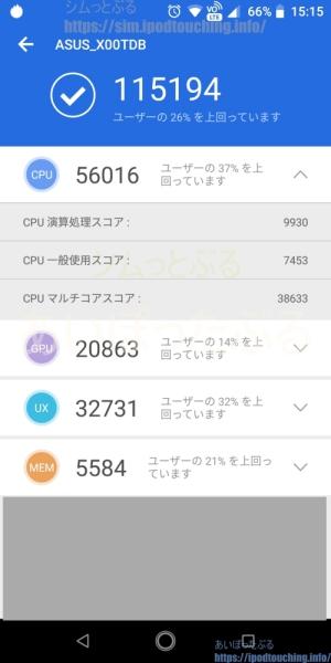 Zenfone Max Pro M1(ZB602KL)ベンチマークスコア